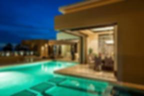 villa renata, naay travel, cabo villas, villas in cabo, cabo luxury villas, cabo experiences, bespoke cabo experiences, pool, pool night view, vacation villa.