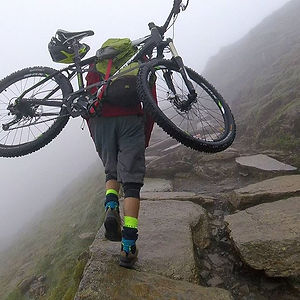 Mountain biking up and down snowdon at 5