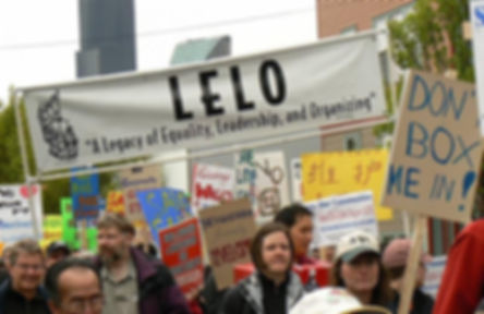 Background Image of LELO Community Organizers and Activists