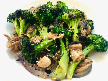 Chinese Broccoli & Jackfruit Stir-Fry