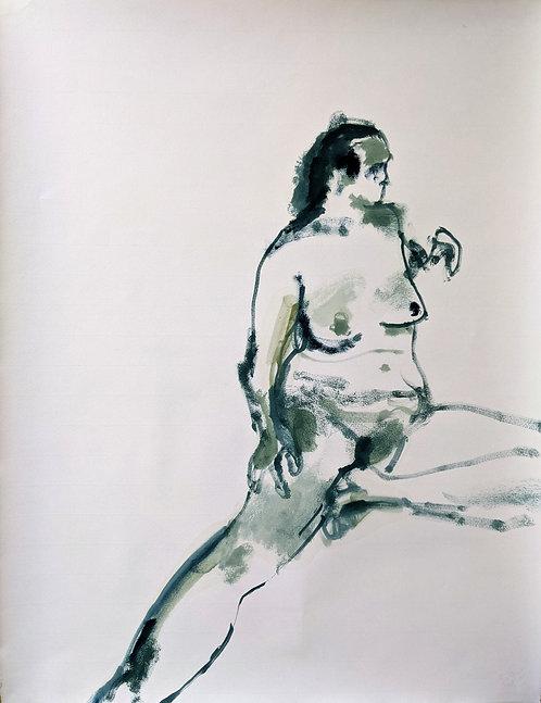 Sea green figure (3) 48x62cm