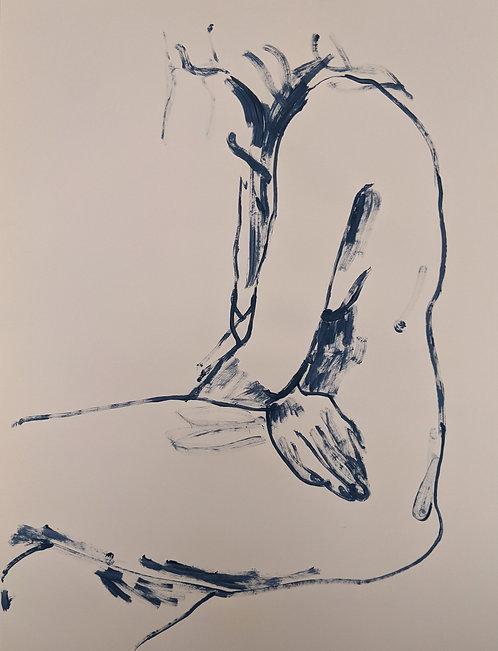 Blue chalk (2) 55x75cm