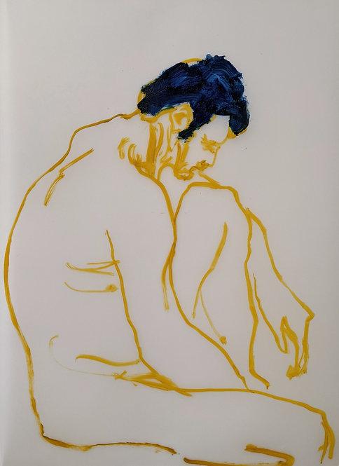 Yellow ochre sketch (2) A3