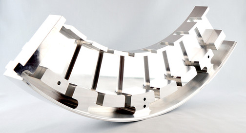 Usinage de pièce éolienne en aluminium