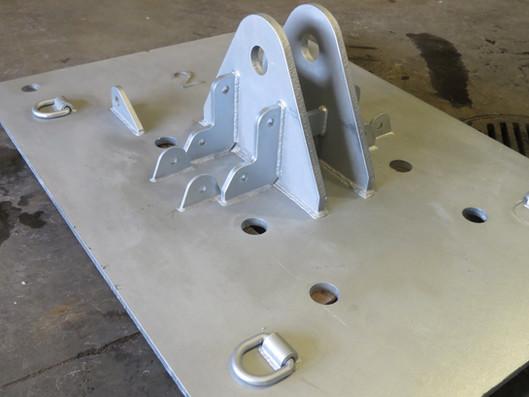 Soudage d'une patte en acier galvanisé