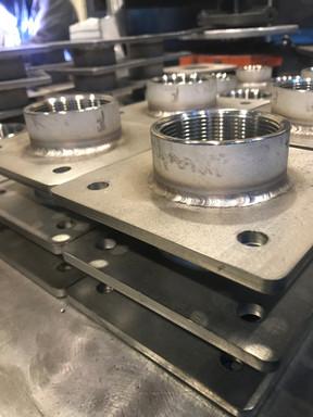 Soudure de plaques et tubes en acier ino
