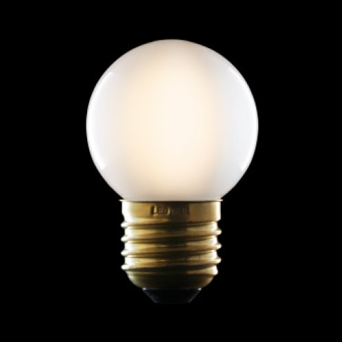 LED Filament LIGHT BULB opal small spherical.