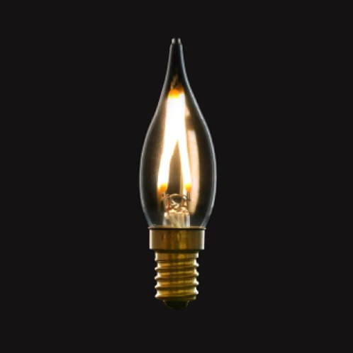 LED Filament LIGHT BULB transparent miniature for Chandeliers.