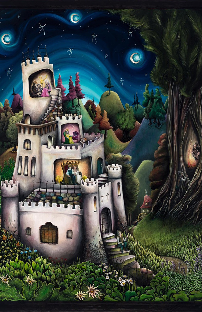 Artwork for Sale - Rumplestiltskin Fairy tale.