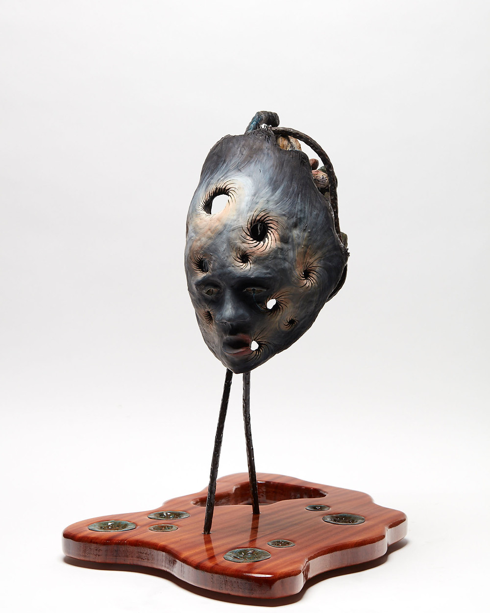Oil painting sculpture of a head depicting the mental health of Dementia