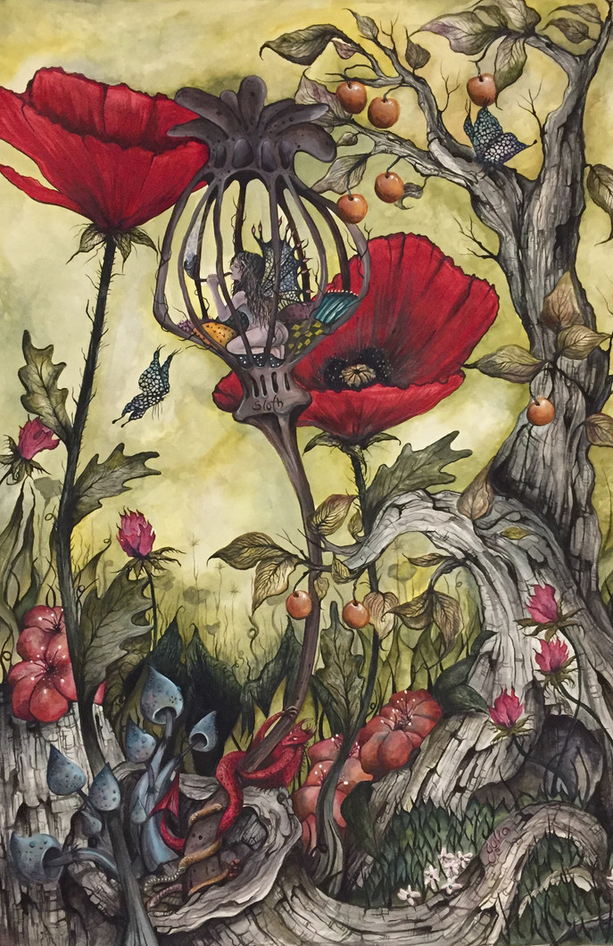 Artwork for Sale, The Sloth Fairy one of the Seven Deadly Sins