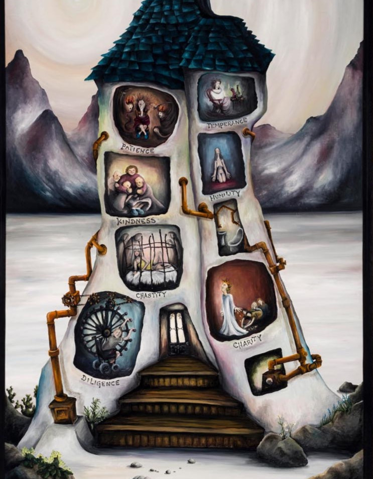 Artwork for Sale - The Seven Heavenly VIrtues