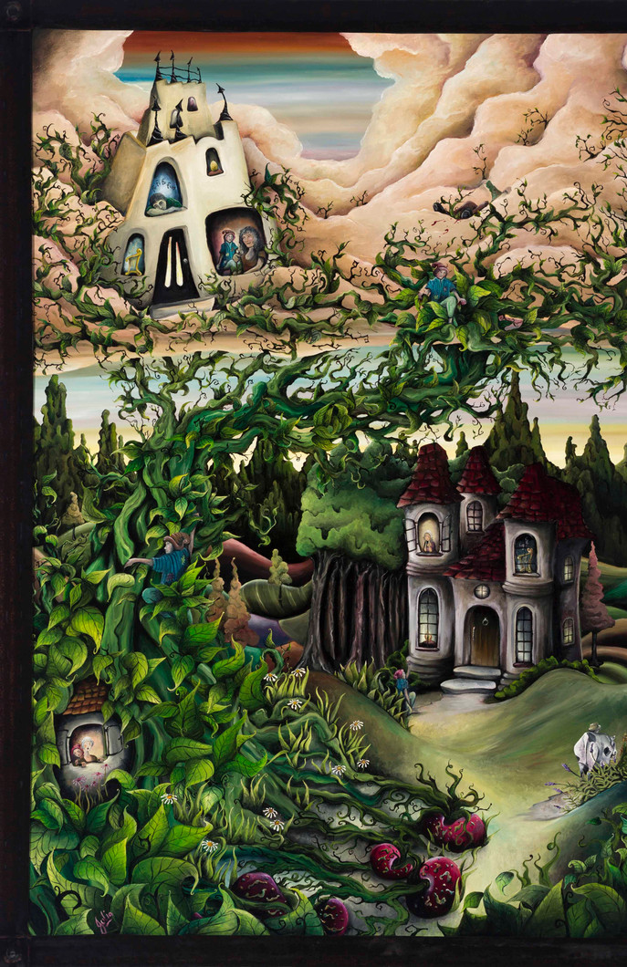 Artwork for Sale - Jack and the Beanstalk oil painting for sale