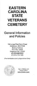 Eastern Carolina Veterans Cemetery cover