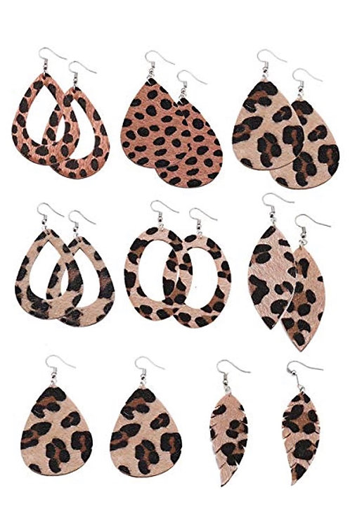 Lina Leopard Earrings