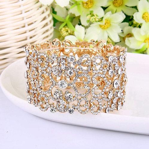 Rhinestone and Crystal Bracelet Art Deco