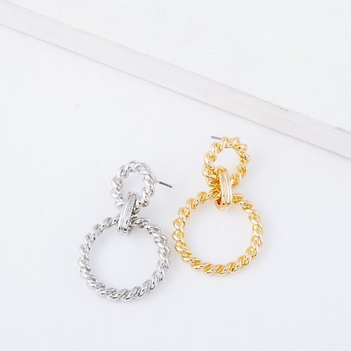 Double Chain Loop Earrings