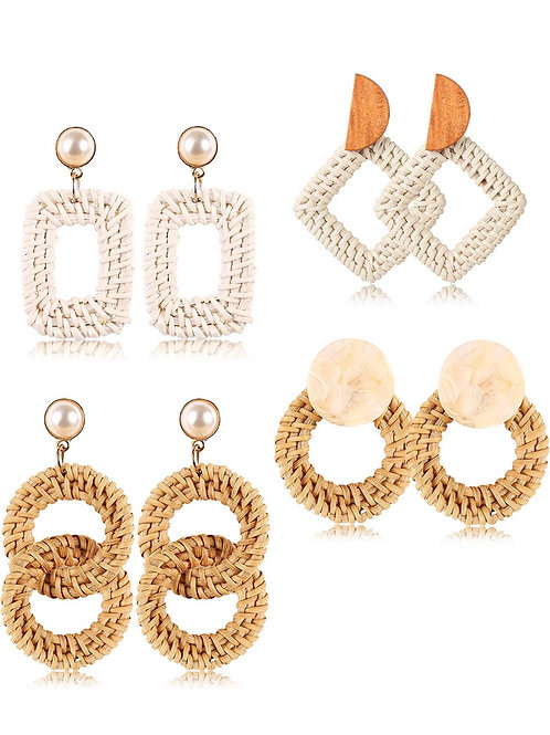 Not Your Typcial Rattan Earring