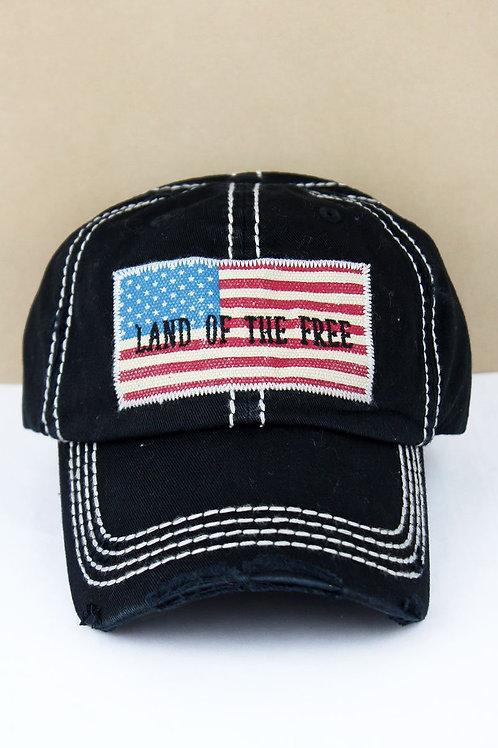 Land of the Free Black Cap