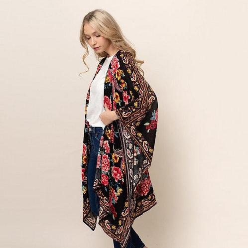 Paisley Floral Kimono