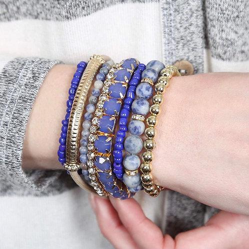 Set of 8 Beaded Bracelets