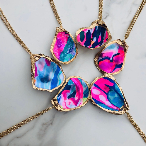 Lilly Inspired Oyster Necklaces