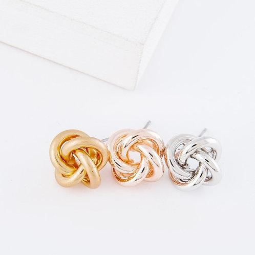 Twist knot earrings