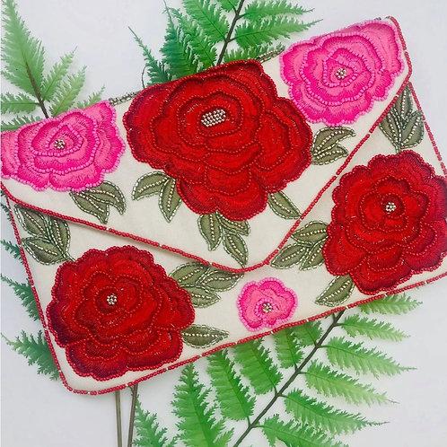 Paris Rose Clutch Crossbody