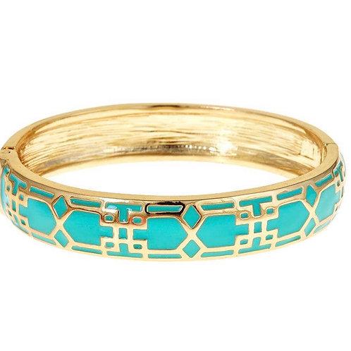 Teal Mosaic Hinge Bracelet