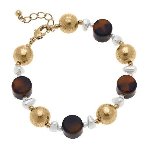 Tortoise Pearl Bracelet
