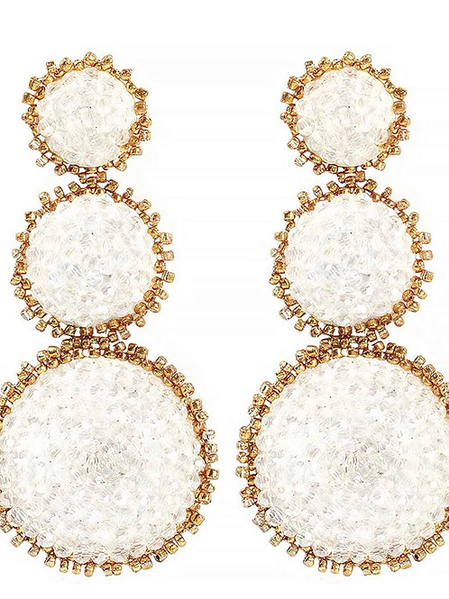Morgan Triple Bead earring
