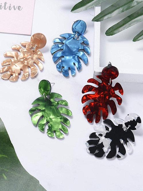 Palm Leaf Acrylic Earrings