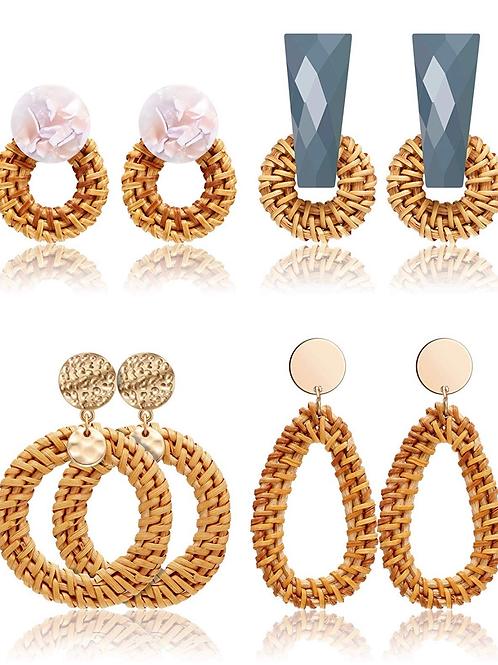 Acrylic rattan earrings