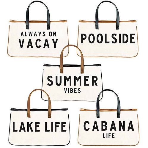 Summer Canvas Totes