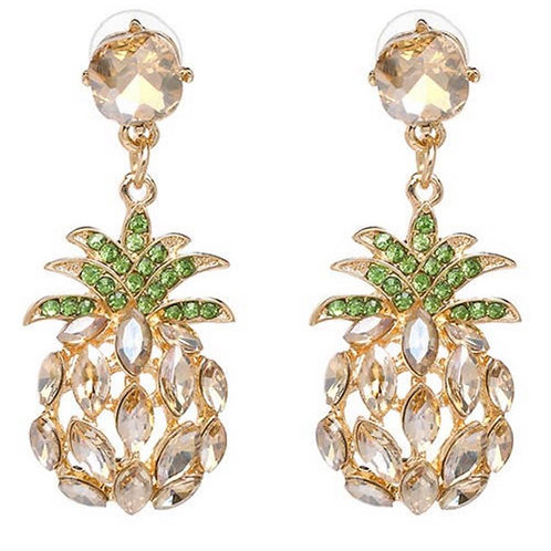 Stand Tall Pineapple Earings