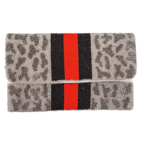 Grey striped leopard