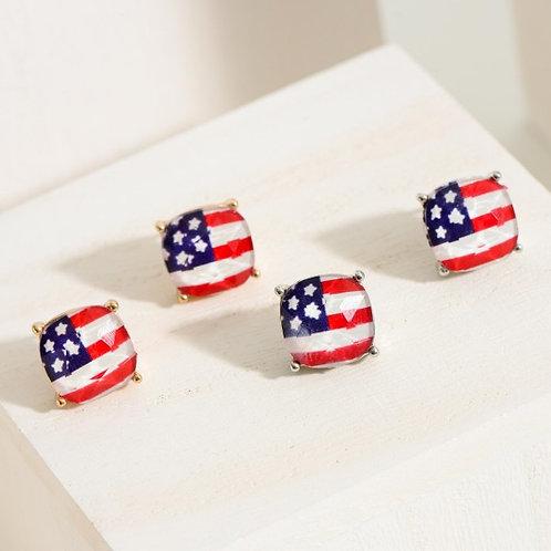 Flag Stud Earrings