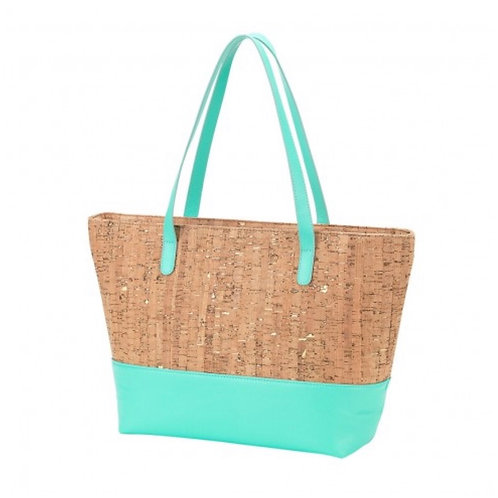 Color Block Cork Tote No Monogram