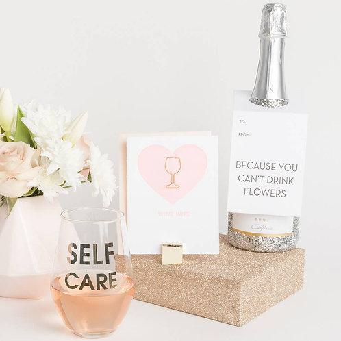Self Care Wine Glass