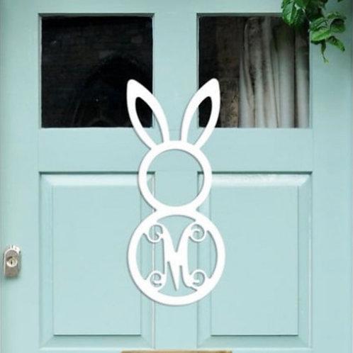 Tall Bunny Single Initial