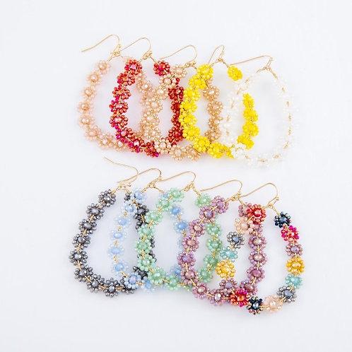 Maya flower earrings