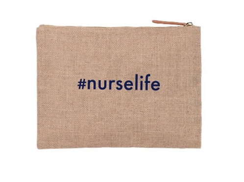 #nurselife burlap pouch