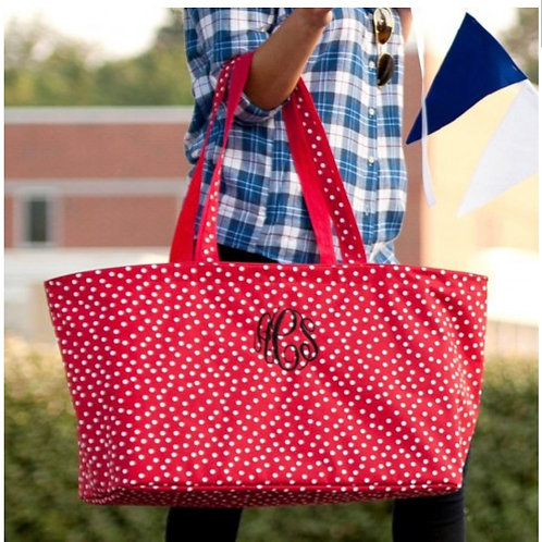 Red Dot Ultimate Tote Monogrammed