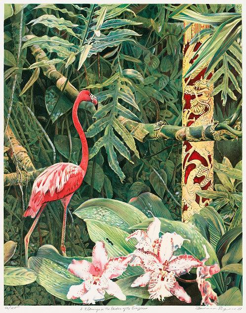 A Flamingo in the Garden of the Empress