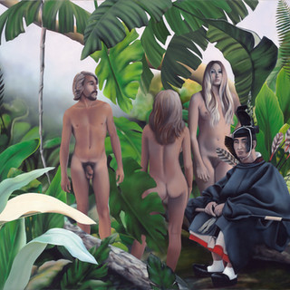Three Nudes and a Samurai Bowsman