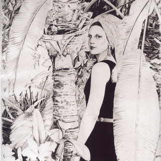 Renee with Big White Leaves