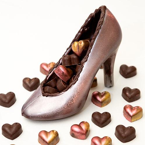 Gevulde pump van pure chocolade