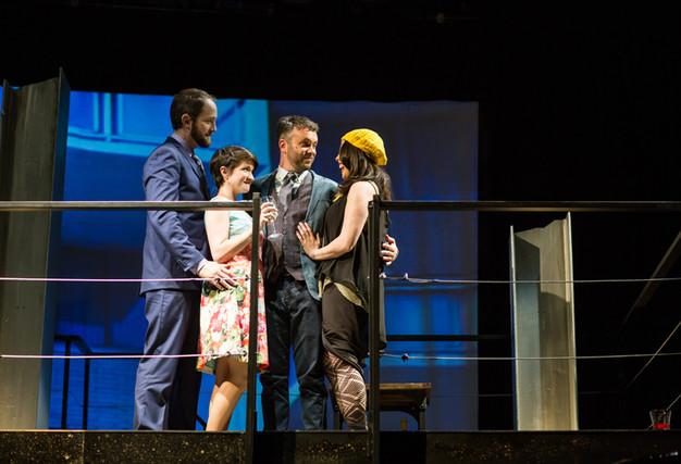 """Company"" - San Francisco Playhouse  Michael Scott Wells AEA, Nicole Weber AEA, Keith Pinto AEA, Teresa Attridge"