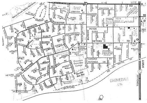 Grovedale, once Germantown - showing Heyers Road