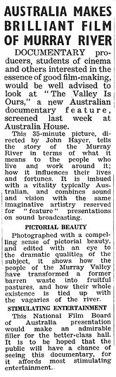 A clipping from To-day's Cinema from July 5, 1949